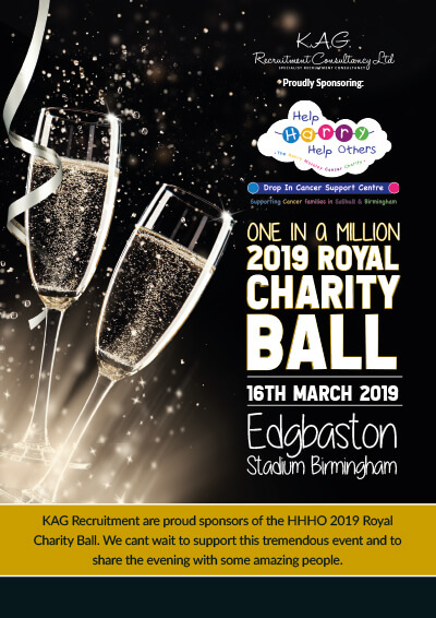 One In A Million 2019 Royal Charity Ball - KAG Recruitment Consulting Birmingham
